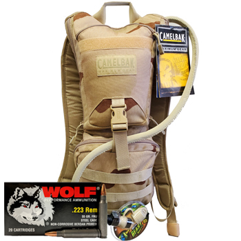 CamelBak Ambush + 100rds of Wolf Performance 223 55gr FMJ Ammo