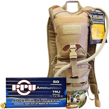 CamelBak Ambush + 200rds of PPU 40 S&W 180gr TMJ Ammo