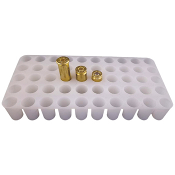 Universal White Ammo Reloading Tray - 50 Rounds