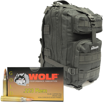 223 Wolf Gold 55gr - 1000 Rounds in Black The Armory