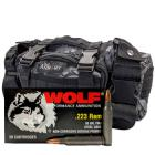 223 Rem 55gr FMJ Wolf Performance Ammo - 280rds in The Armory Black Python Range Bag