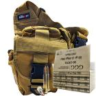 223 Remington (5.56x45mm) 55gr FMJ GGG Ammo - 300rds in The Armory Tan Shoulder Bag