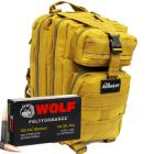 300 AAC Blackout 145gr FMJ Wolf Polyformance Ammo in The Armory Tan Backpack (500 rds)