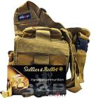 40 S&W 180gr FMJ Sellier & Bellot Ammo - 350rds in The Armory Tan Shoulder Bag