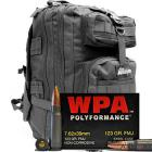 7.62x39 123gr FMJ Wolf WPA Polyformance Ammo in The Armory Black Backpack (500 rds)