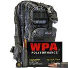 7.62x39 123gr FMJ Wolf WPA Polyformance Ammo in The Armory Black Python Backpack (500 rds)