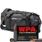 7.62x39 123gr FMJ Wolf WPA Polyformance Ammo in The Armory Black Range Bag (200 rds)