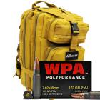 7.62x39 123gr FMJ Wolf WPA Polyformance Ammo in The Armory Tan Backpack (500 rds)