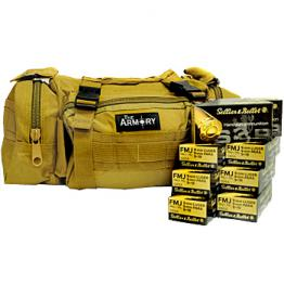 9mm S&B 115gr - 500 Rounds in Tan The Armory Range Bag
