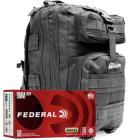 9mm 115gr FMJ Federal Champion Training Ammo - 1000rds in The Armory Black Backpack