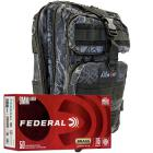 9mm 115gr FMJ Federal Champion Training Ammo - 1000rds in The Armory Black Python Backpack