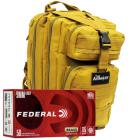 9mm 115gr FMJ Federal Champion Training Ammo - 1000rds in The Armory Tan Backpack