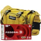 9mm 115gr FMJ Federal Champion Training Ammo - 350rds in The Armory Tan Range Bag