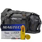 9mm 115gr FMJ Magtech Ammo - 200rds in The Armory Black Range Bag