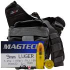 9mm 115gr FMJ Magtech Ammo - 350rds in The Armory Black Shoulder Bag
