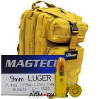 9mm 115gr FMJ Magtech Ammo - 1000rds in The Armory Tan Backpack