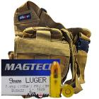 9mm 115gr FMJ Magtech Ammo - 350rds in The Armory Tan Shoulder Bag