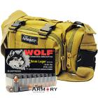 9mm 115gr FMJ Wolf Performance Ammo - 200rds in The Armory Tan Range Bag
