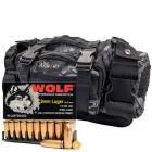 9mm Luger 115gr FMJ Wolf Performance Ammo in The Armory Black Python Range Bag (500 rds)