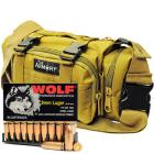 9mm Luger 115gr FMJ Wolf Performance Ammo in The Armory Tan Range Bag (500 rds)