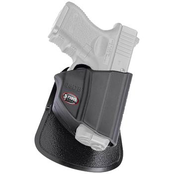 Fobus Thumb Lever Holster   Glock 26/27/33   9mm/40/357   OWB   Right Hand   Black