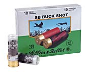 12 GA 2-3/4 00B 12-pellet Sellier & Bellot Ammo Box (10 rds)