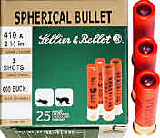 "Buy This 410 2-1/2"" 000B 3-pellet Sellier & Bellot Ammo for Sale"