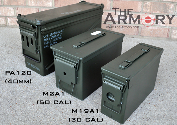 Ammo Can 50 Cal - 30 Cal - PA120 - 40mm