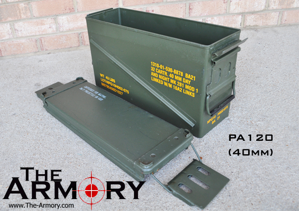PA120 Ammo Can Lid Removed