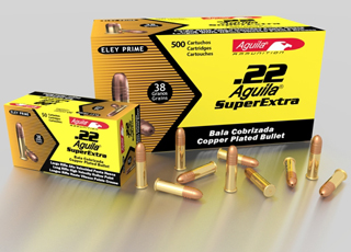 22LR 38gr Aguila High Velocity HP Ammo Brick (500 rds)