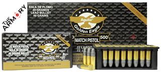 22LR 40gr Aguila Match Pistol Ammo Brick (500 rds)