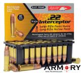 22LR 40gr Aguila Interceptor HP Ammo Box (50 rds)