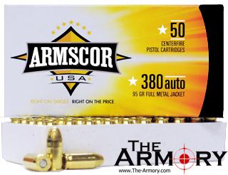 380 Auto (ACP) 95gr FMJ Armscor Ammo Brick (500 rds)