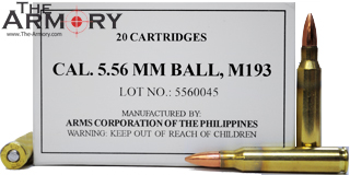 Buy This 5.56x45 55 gr FMJ M193 Armscor Ammo for Sale