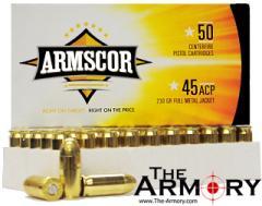 45 ACP (45 Auto) 230gr FMJ Armscor Ammo Box (50 rds)
