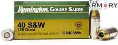 Buy This 40 S&W 165 gr HPJ Remington Golden Saber Ammo for Sale
