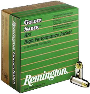 Buy This 9mm Luger (9x19mm) 124 gr HPJ (+P) Remington Golden Saber Ammo for Sale