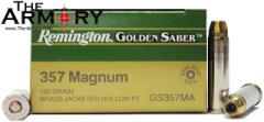Buy This 357 Mag 125 gr HPJ Remington Golden Saber Ammo for Sale