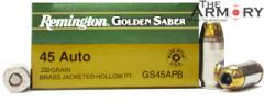 Buy This 45 ACP (45 Auto) 230 gr HPJ Remington Golden Saber Ammo for Sale