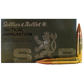 300 AAC Blackout 124gr FMJ Sellier & Bellot Ammo Box (20 rds)