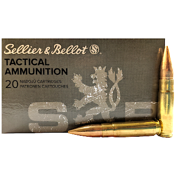 300 AAC Blackout 147gr FMJ Sellier & Bellot Ammo Box (20 rds)