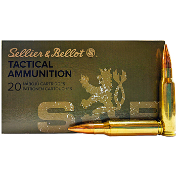 308 Winchester (7.62x51mm) 147gr FMJ Sellier & Bellot Ammo Box (20 rds)