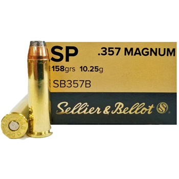 357 Mag 158gr SP Sellier & Bellot Ammo Box (50 rds)