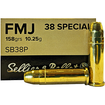 38 Special 158gr FMJ Sellier & Bellot Ammo Case (1000 rds)