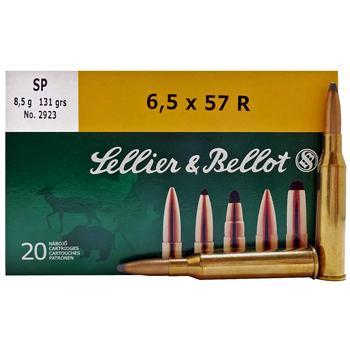 6.5x57mm Mauser 131gr SP Sellier & Bellot Ammo Box (20 rds)