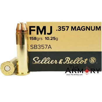 357 Mag 158gr FMJ Sellier & Bellot Ammo Case (1000 rds)