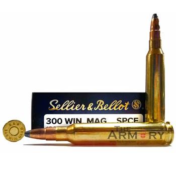 300 Winchester Magnum (7.62x67mm) 180gr SPCE Sellier & Bellot Ammo Box (20 rds)