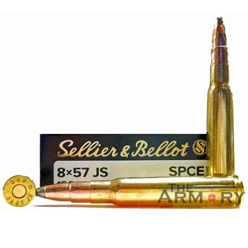 8mm Mauser (8x57 JS) 196gr SPCE Sellier & Bellot Ammo Box (20 rds)