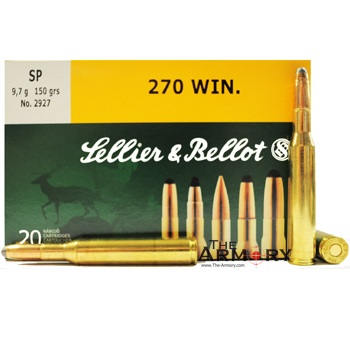 270 Winchester 150gr SP Sellier & Bellot Ammo Box (20 rds)