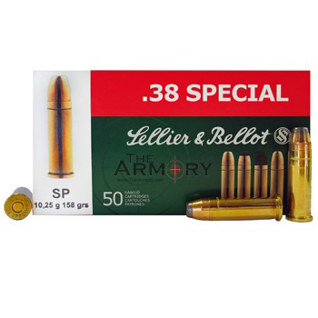 38 Special 158gr SP Sellier & Bellot Ammo Box (50 rds)